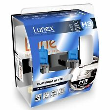 2 x H3 HALOGEN HEADLAMP BULB Premium 453 12V 55W Lunex Platinum White 4000k