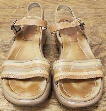 Dansko Women's SlingBack Ankle Strap Tan Sandals Shoes US 7.5 - 8M /  EUR 38.