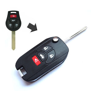 4 Buttons Car Remote Flip Key Case Shell Fob Fit for Nissan Altima Sentra Versa