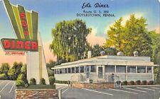 Doylestown PA Ed's Diner on U. S. 202 Postcard