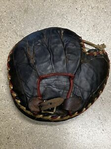 Antique EARLY 1900's... BASEBALL GLOVE RARE CATCHER Mitt