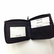 Genuine Leather Bifold Credit Card/ID Wallet With Zipper Handmade in India 07