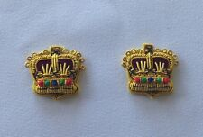 Major Rank, Officer Rank Crowns, Maj, 1 Pair, Army, Military, Mess Dress, Gold