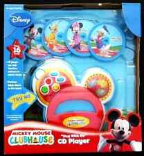 """New Disney Mickey Mouse Clubhouse """"Sing with Me"""" CD Player Kids Music Toy Game ."""