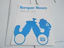 #MISC-3089 VINTAGE ROMPER ROOM TOY CATALOG PRICE LIST