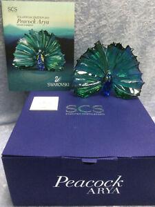 Swarovski Crystal SCS Arya Peacock - 9100000526 / 5063694 Retired 2015.  MIB+COA