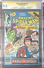 AMAZING SPIDER-MAN #274 CGC SS 9.2 -signed 2x Stan Lee & Larry Lieber -newsstand