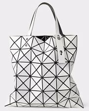 Women Geometric Folding Matte Tote Shoulder Bag Casual Handbag White Bao Bao
