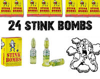 Rotten Puke Egg Smell Prank Fart Stink Bombs (24 VIALS - 8 BOXES of 3 ) GAG