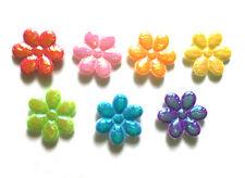 100 pcs - Small foil flower Padded Appliques - Mix color - size 10 mm