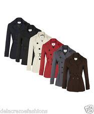 De La Crème - Women's Spring/Summer Jacket Ladies Double Breasted Short Coat