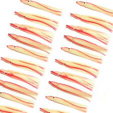 "20x 4"" Glow Soft Squid Skirts Skirted Jigging Lures Inchiku Jig Snapper Assist"