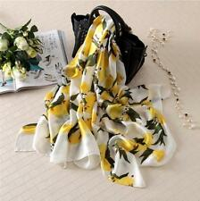 Fashion  Lemon Silk Scarf Women  Scarves Bandana Female Foulard Big Long Shawl