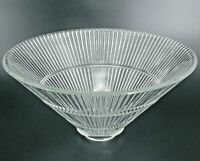 VINTAGE LIGHT SHADE HOLOPHANE STYLE INDUSTRIAL MID CENTURY RIBBED GLASS CONE 15""