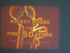 DISNEY MICKEY MOUSE 1ST 50 YEARS SUPER 8 COLOUR SOUND 400FT CINE FILM 8MM