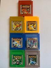 Nintendo Game Boy Pokemon ORO,  CRISTALLO, GIALLO, ARGENTO, ROSSO, BLU, VERDE