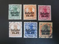 """GERMANY STAMPS  USED 1916-17 WWI """"DEUTSCHES REICH"""" EASTERN COMMAND"""
