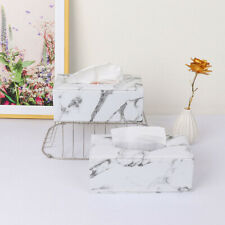 Marble Tissue Box Napkin Holder Cover Storage Box Container for Home Office