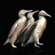 More details for solid bronze birds /penguin group (927) international animal wildlife reduced