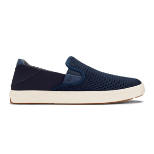 Olukai Men's Size 10 Lae'ahi Slip on shoes, Blue Depth/Blue Depth