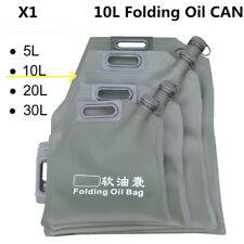 10L Portable Car Motor Fuel Tank Oil Storage Bucket Can Soft Bladder Petrol Cans
