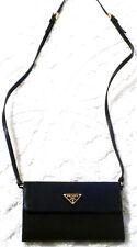 NEW $795 PRADA CROSSBODY Handbag black Leather & nylon W ALL TAGS Doc's & Box