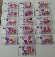 16 x 0 Euro Souvenir Türkiye - NICE Set - DIFFERENT SERIAL - all UNC
