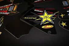 SUZUKI RM 125-250  2001-2009 ROCKSTAR FLU MX GRAPHICS KIT STICKER KIT STICKERS