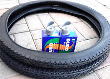 1-PAIR OF 26X2.125 BEACH CRUISER TIRES & TUBES WITH FREE RIM LINERS *BLACK TIRES