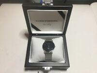 NEW Skagen Ultra Slim Watch Large 33mm Black Face No Battery Silver Display Box