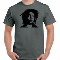 Bob Marley T-Shirt Mens Reggae Music Jamaica Wailers Jamaican Wailers Top Weed