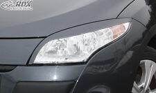 RDX Scheinwerferblenden RENAULT Megane 3 2008-2013 Böser Blick Blenden Spoiler