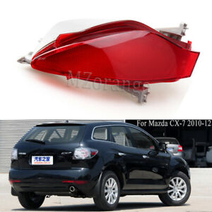 Right Outer For Mazda CX-7 2010-2012 Rear Bumper Lamp Reflectors Red Cover Light