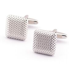 1Pair Cuff Links Gentleman Exquisite Simple Square Electroplate Top Grade Chic