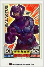 2011 Topps Marvel Universe Hero Attax Collectors Card Rainbow Foil #10 Galactus
