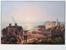 SCHEVENINGEN - prachtvolle grossformatige Aquatinta von Bleuler 1830 ORIGINAL