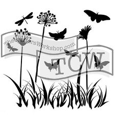 The Crafters Workshop Stencil Butterfly Meadow 12x12 TCW197