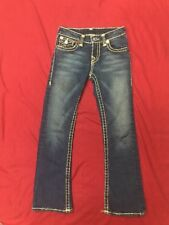 True Religion Distressed Girls Billy Super T Denim Jeans Sz 8  G10572ML