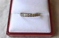 Demi-Alliance Americaine en OR gris 18K et DIAMANTS 18 k gold real diamonds ring