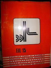 OM Fiat chariot élevateur EIL 15 : catalogue de pièces