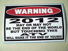 FUNNY 2012 WARNING STICKER ATV QUAD BIKE ATC FOUR WHEELER MUD BOGGING  DECAL 779