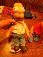 """New with Tags 16"""" Homer Simpson plush toy with new Stand"""