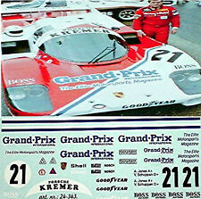 Porsche 956 Grand Prix Magazine 1983 1:24 Autocollant Décalcomanie