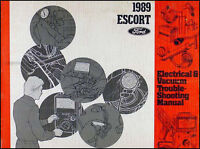 1989 Ford Escort Original Electrical and Vacuum Troubleshooting Manual Original