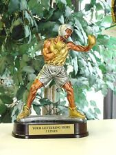 Beautiful Bronze Silver And Gold Finish Resin Boxing Trophy Sculpture M*Rf24542