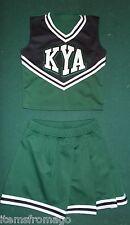 KYA Green, Black, & White Cheerleading UNIFORM Youth Large Alleson
