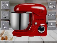 Royaltronic 8 Liter 2000 W max. Küchenmaschine Rührmaschine Knetmaschine Rot