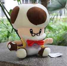 "Super Mario Bros Papa Toad Mushroom Man Stuffed Plush Soft Doll Toy 9"" US Shippe"