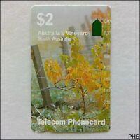 Telecom South Australia Vineyard T2C2-1 18 $2 Phonecard (PH6)