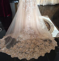 Bling Bling Sequins Wedding Veils White Ivory Cathedral 1T Bridal Accessories